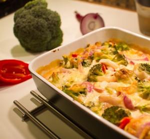 Kyllingform med brokkoli