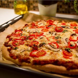 Klassisk hjemmelaget pizza -