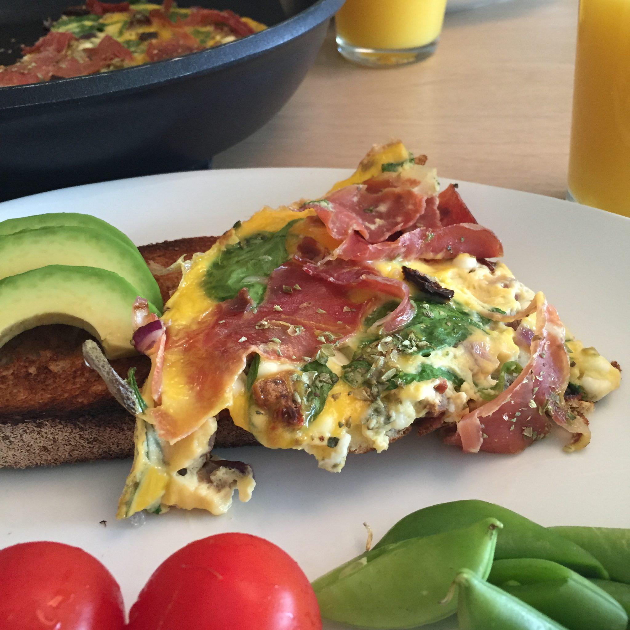 Omelett med serrano og cottage cheese det glade kj kken for Med cottages