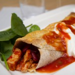 Sunnere burritos med kylling og bønner
