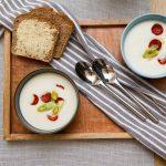 Blomkålsuppe med chorizo og vårløk