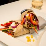 Tacowraps med hvitløksdressing