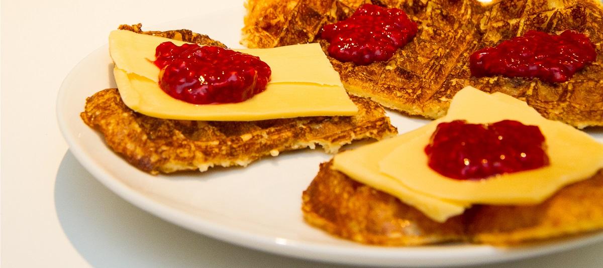 Havrevafler med cottage cheese det glade kj kken for Med cottages