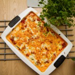 Squashlasagne med cottage cheese