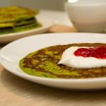 Grønne pannekaker med spinat