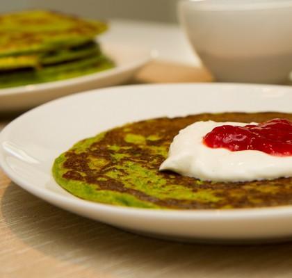 Grønne pannekaker til frokost
