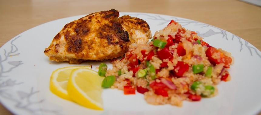 Kylling med quinoasalat