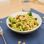 Kylling med pasta og pesto - Middag på under halvtimen