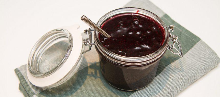 Nesten sukkerfrie rørte blåbær