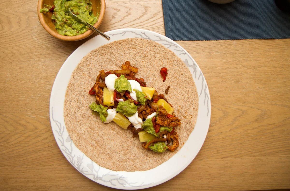 Tex-mex digg i en wrap