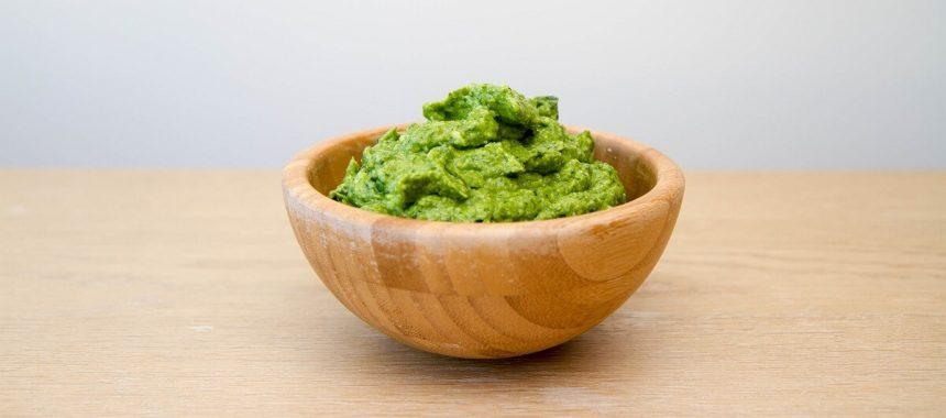 Avokadopesto – med mild smak av basilikum