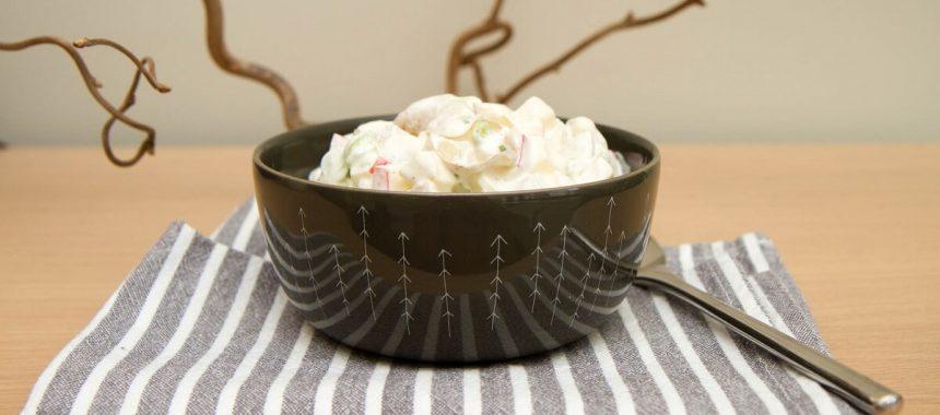 Hjemmelaget potetsalat med eple