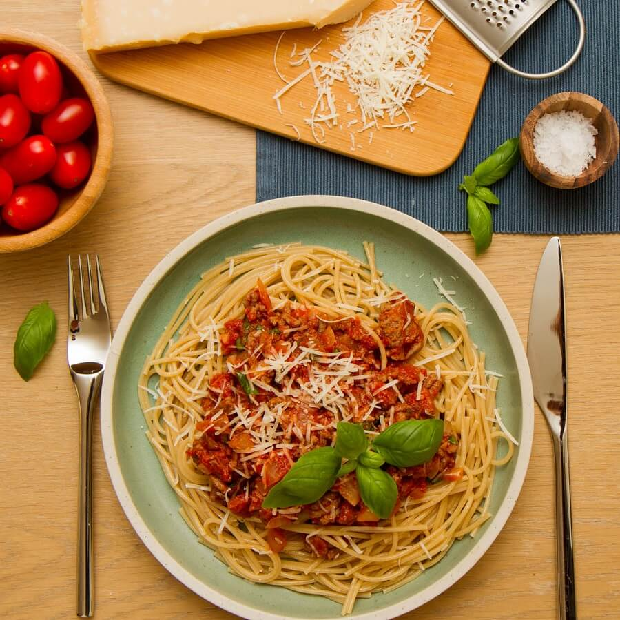 Spaghetti i kjøttsaus