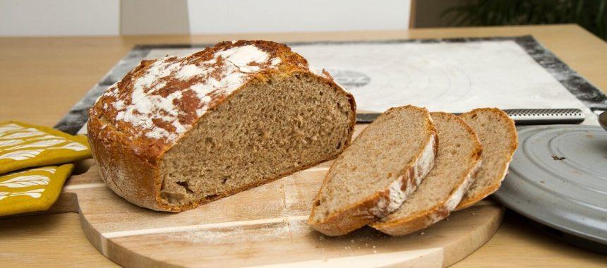 Eltefritt grytebrød av hvete og rug