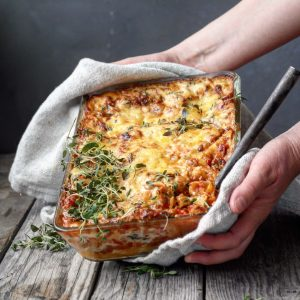 Foto: Ourkitchenstories.no - Vegetarlasagne