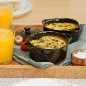 Ovnsbakt omelett i porsjonsform