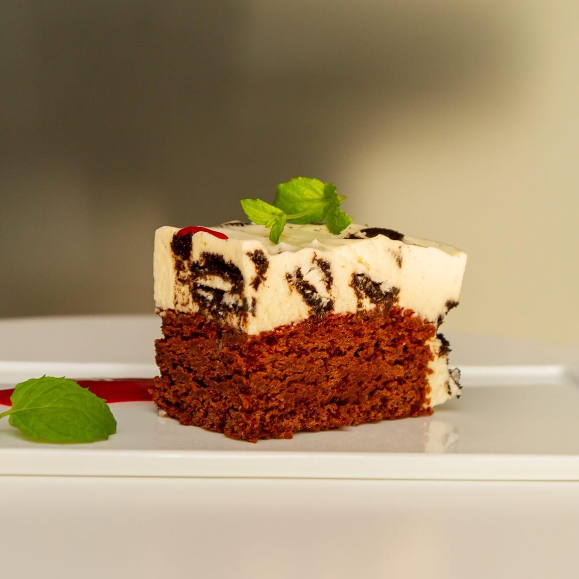 Brownies med oreokrem