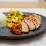 Lettvint kylling curry med kokosris og mangosalat