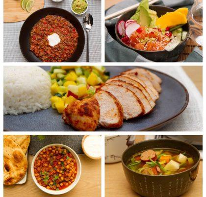 sunne og enkle middagsretter