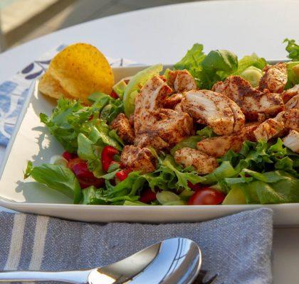 Lettvint tex-mex kyllingsalat