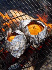 Brownie i appelsin  – sjokoladekake på bålet